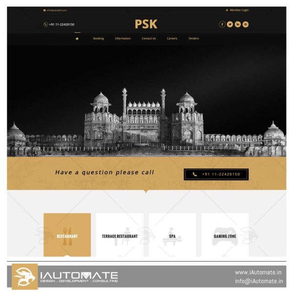 PSK Delhi website design development