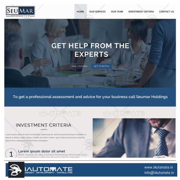 Seumar Holdings website design