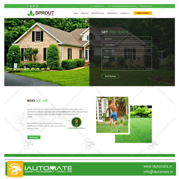 Sprout Lawncare wordpress website design