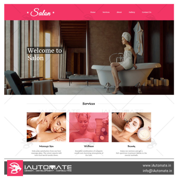 Salon demo web design