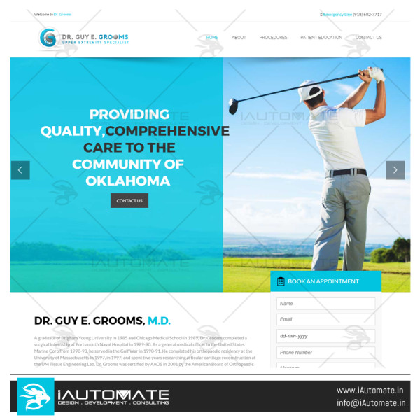 Shoulder Clinic Oklahoma website design