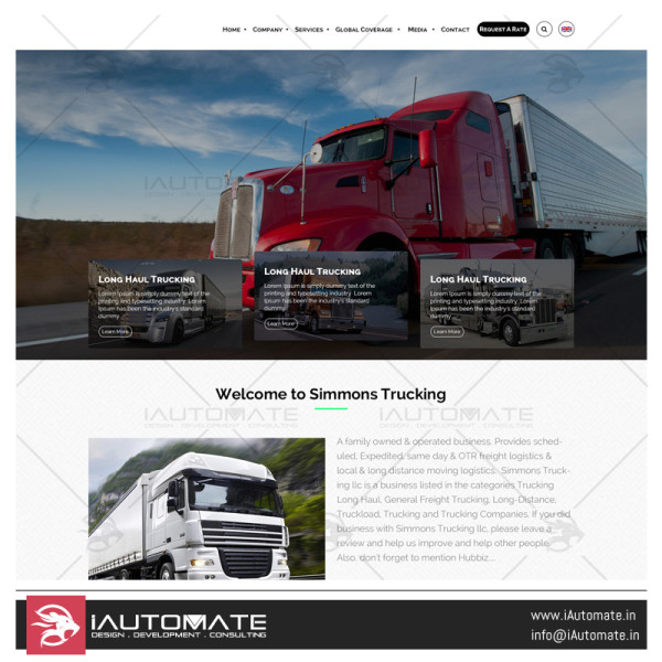 Simmons Trucking Web design