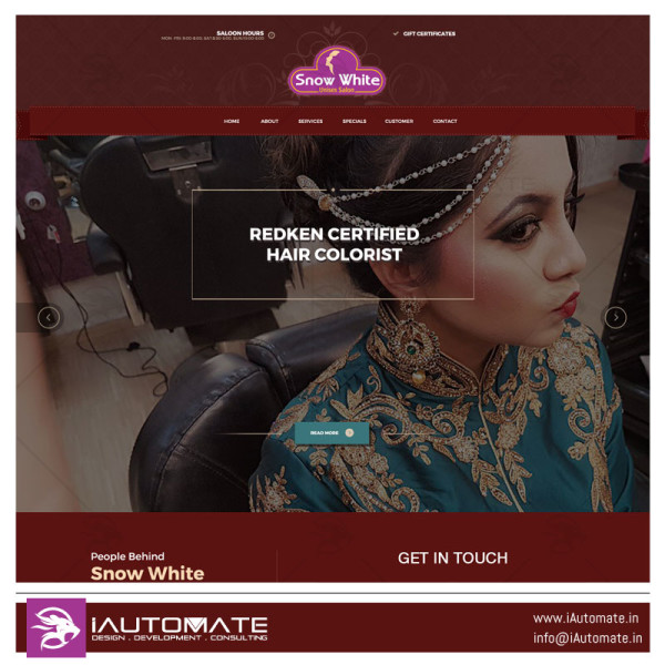 Snow White Unisex Salon webdesign