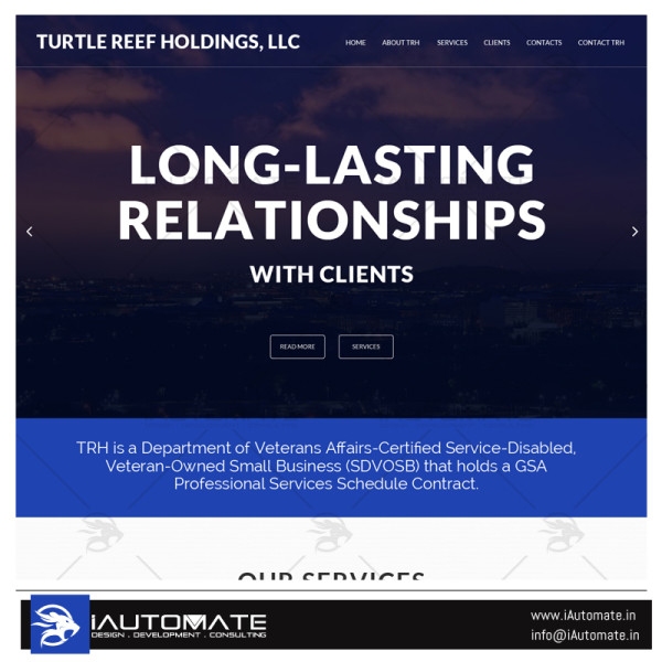 Turtle Reef holding website design