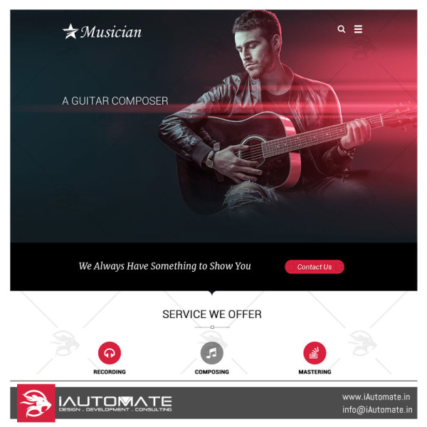 Music demo web design