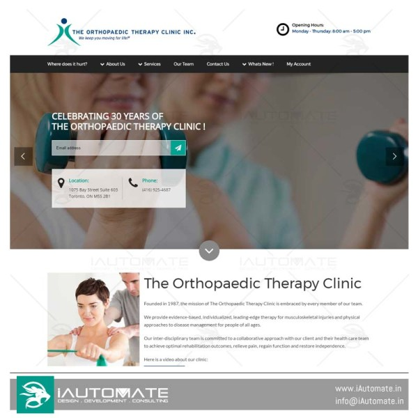 The Orthopaedic Therapy Clinic design and development