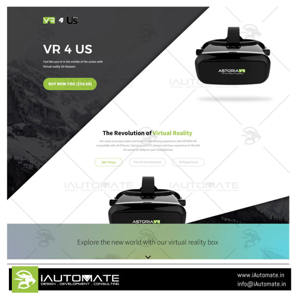 Vr4us website design