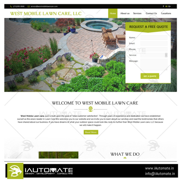 West Mobile Lawncare web development and design