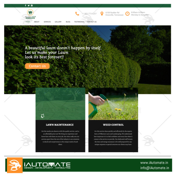 Wilkerson Lawn web design
