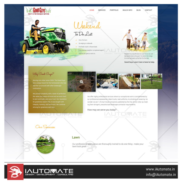 Good Guys Lawncare website design