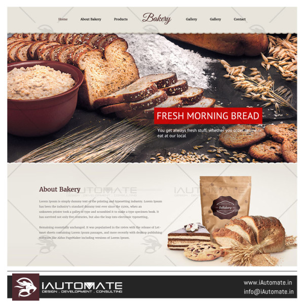 Bakery demo web design