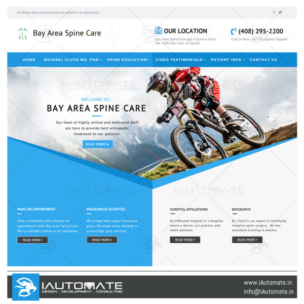 Bayarea Spine Care website design