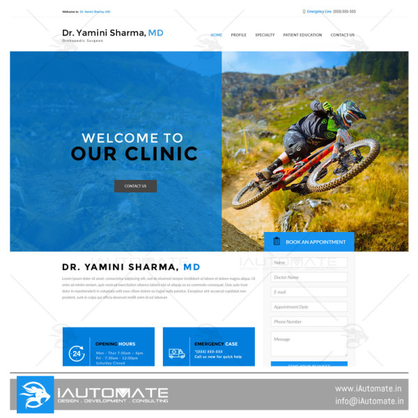 Doctor demo web design