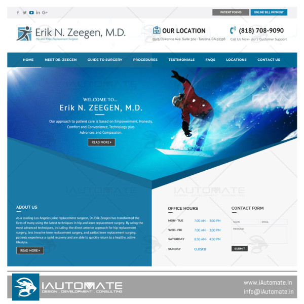 Dr. Erik N. Zeegen wordpress website