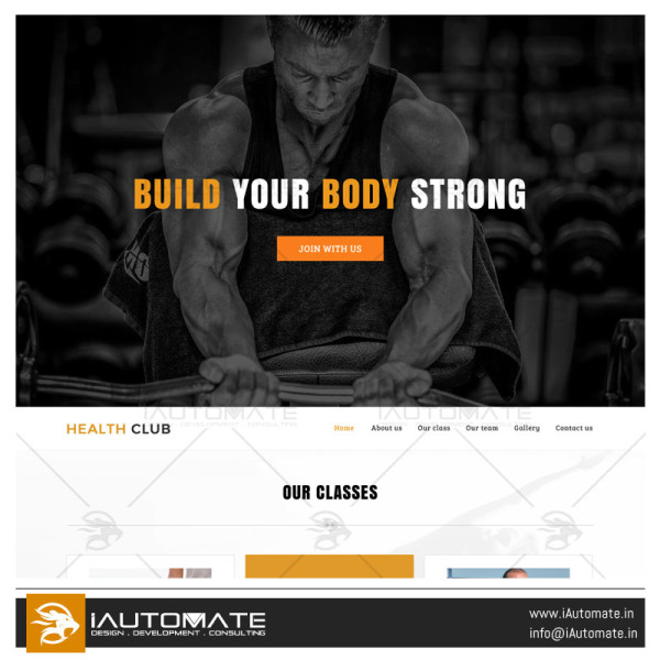 Gym demo web design