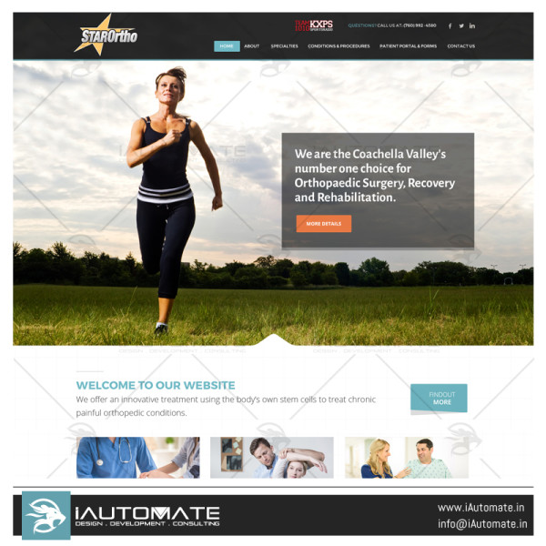 Star Ortho Website design