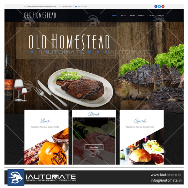 The Old Homestead Steakhouse Webdesign