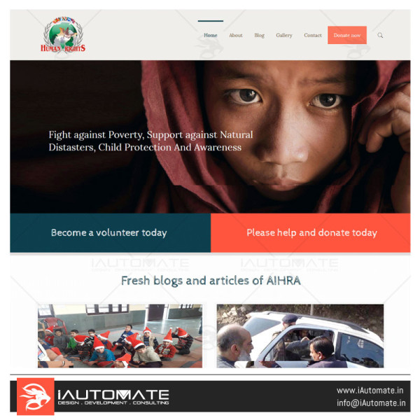 All India Human Right Association website design