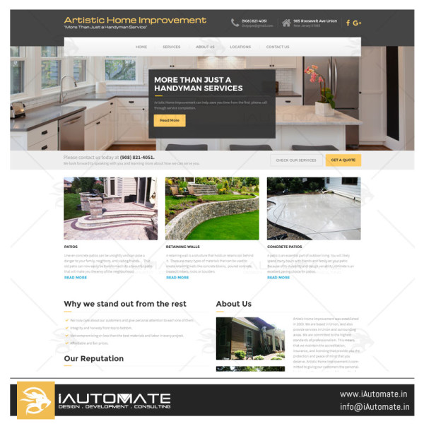 Artistic Home Improvement WordPress design