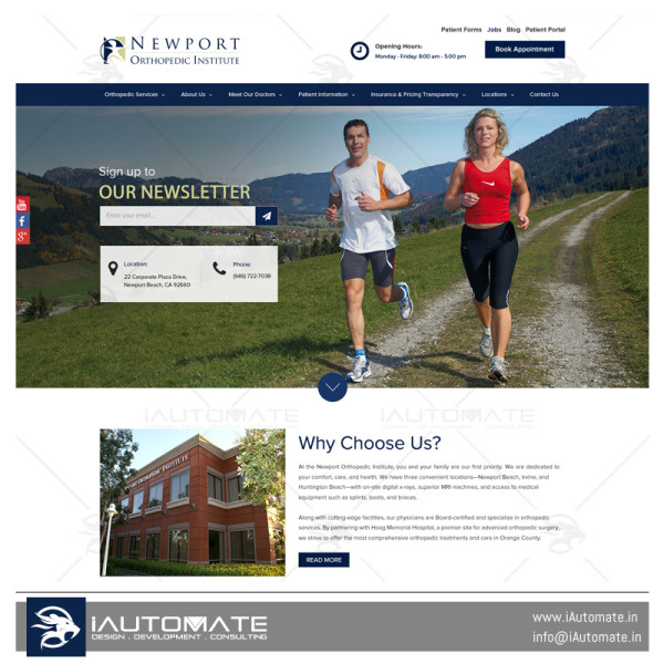 Newport Orthopedic Institute web design