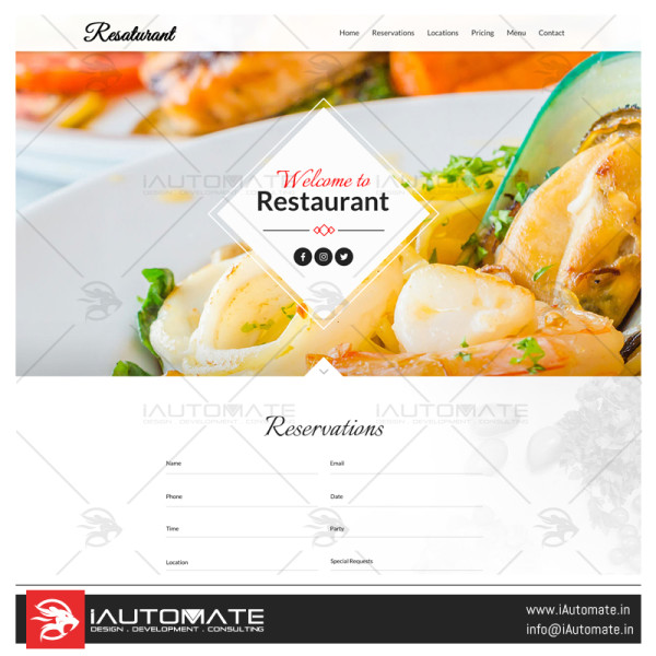 Resturant App Design Development and Apps development