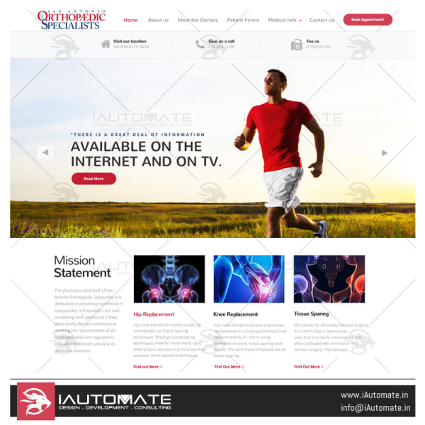 San Antonio Orthopedic Specialist Website