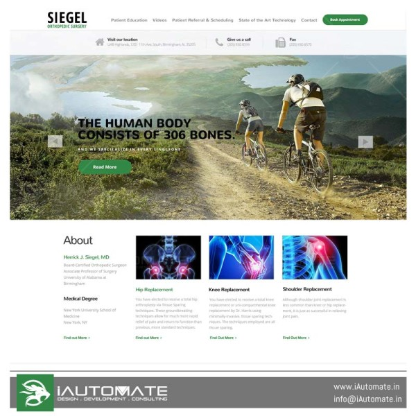Siegel Orthopedic Surgery webdesign