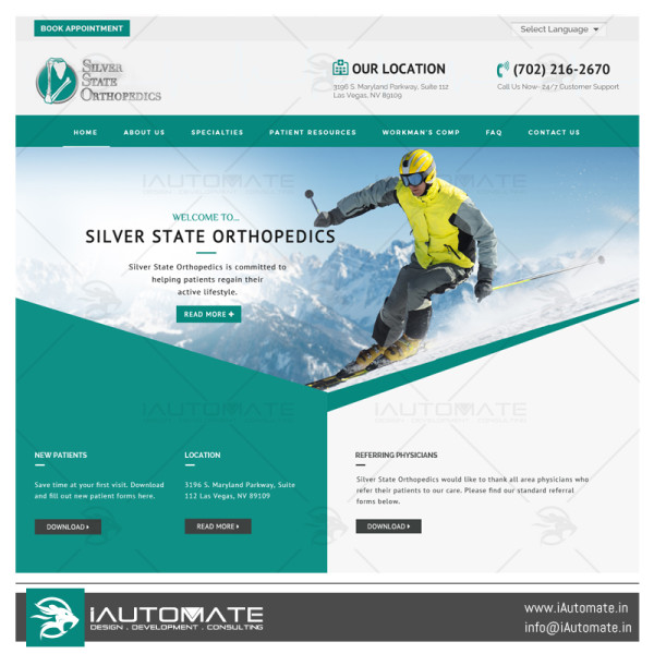 Silver State Orthopaedic website design