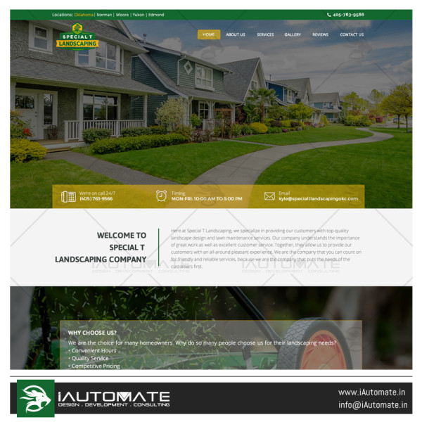 Special T Landscaping Webdesign