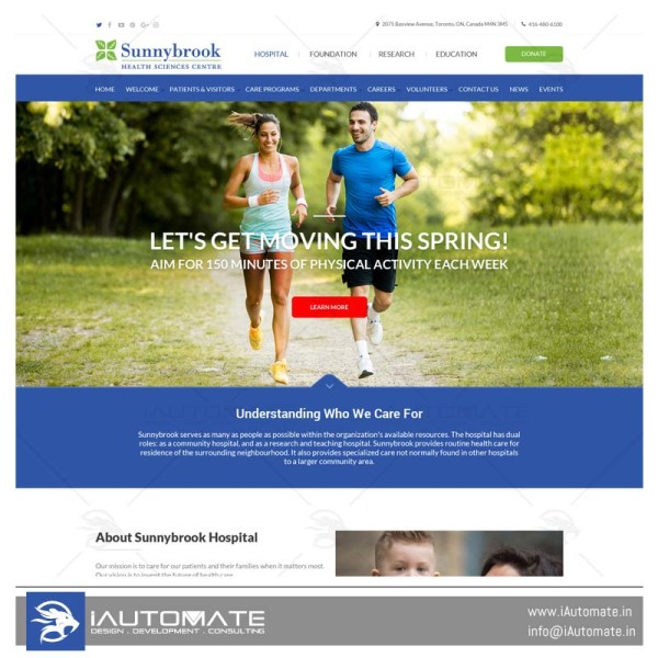 Sunnybrook Health Sciences Center wordpress system