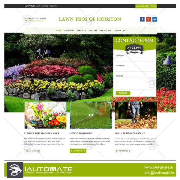 Lawn Pros of Houston wordpress website design