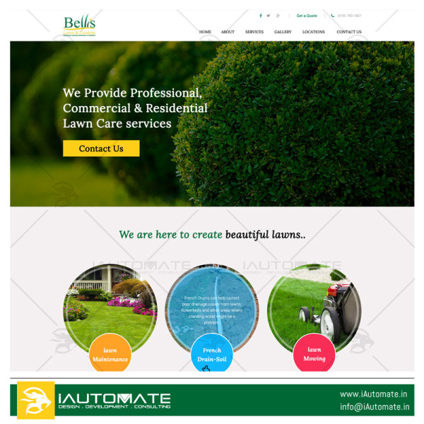 Bellis Lawn & Gardens wordpress website development