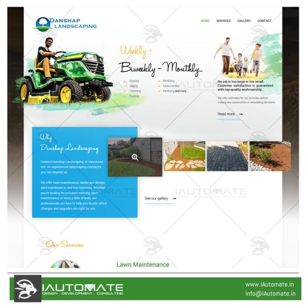 Danshape Landscape webdesign