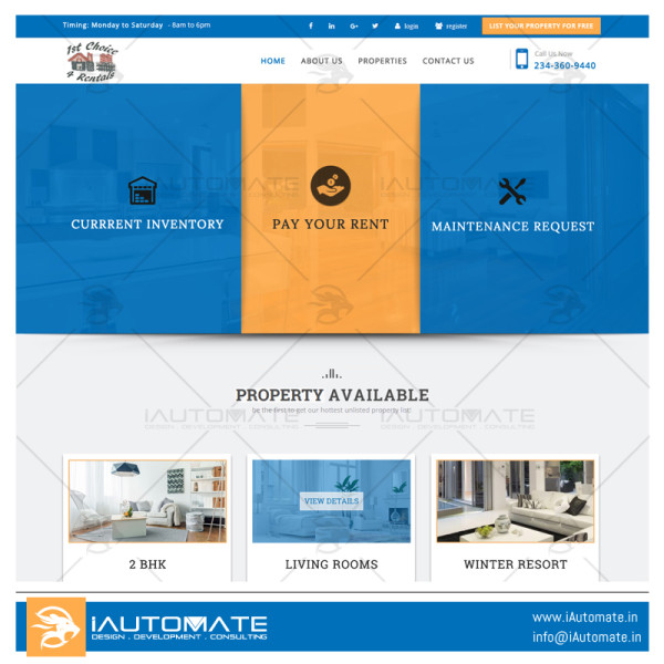 1st Choice 4 Rentals webdesign