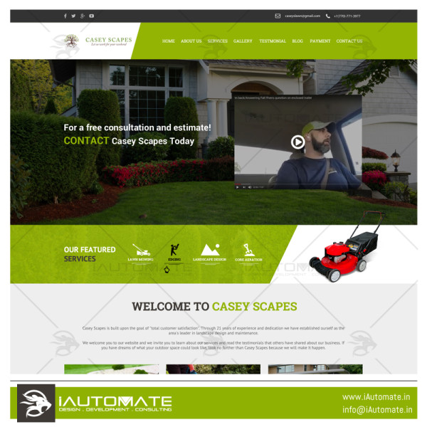 Casey Scapes website design