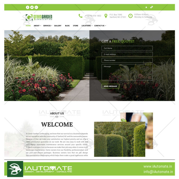 Green Garden Design and development