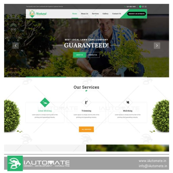 Weekend Lawn Care Website Design